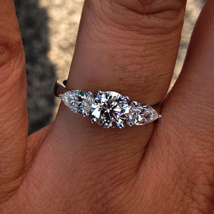 GIA certified Three Stone Diamond Engagement Ring