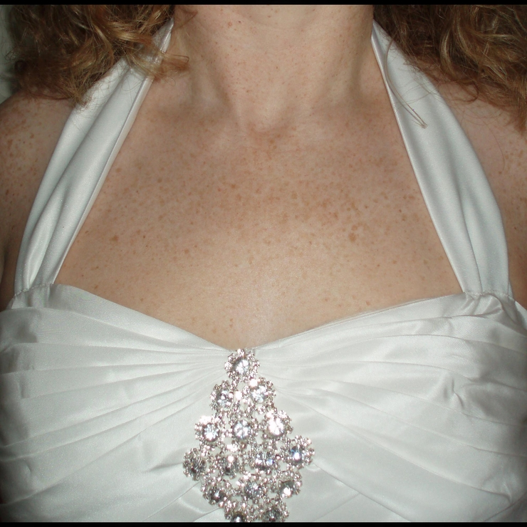 Halter neck made and added to this previously strapless dress.