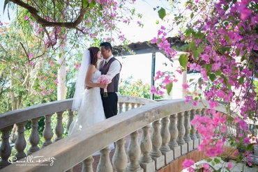 Outdoor pink real weddings