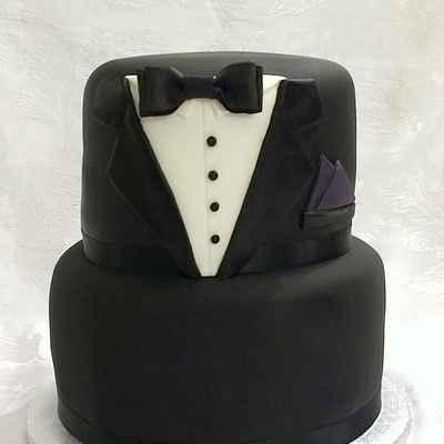Black wedding cakes