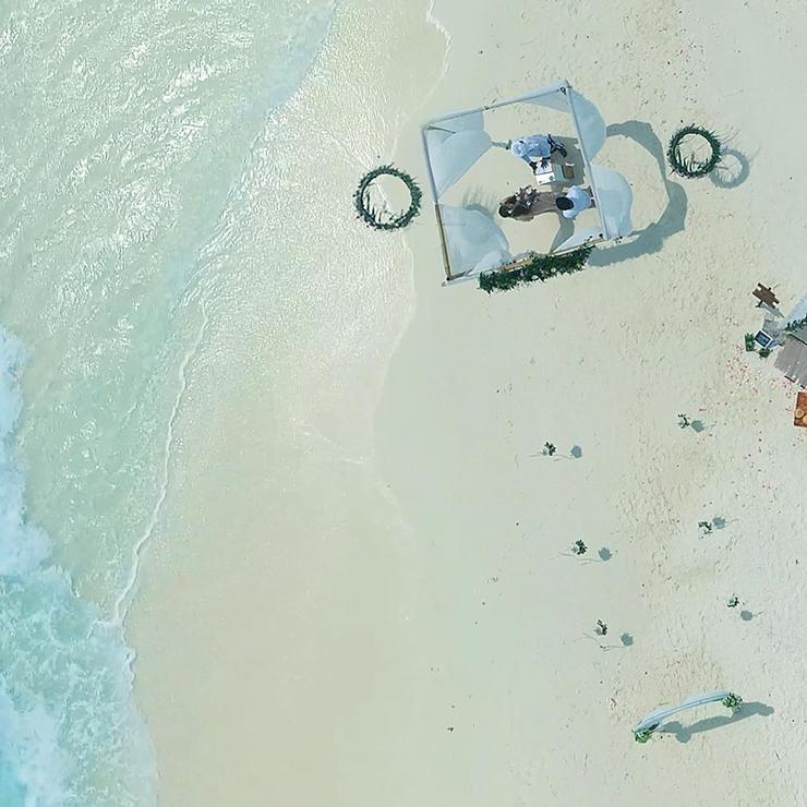 Michael + Moe Wedding in Maldives Sand Bank