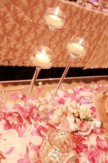 Pink wedding floral decor