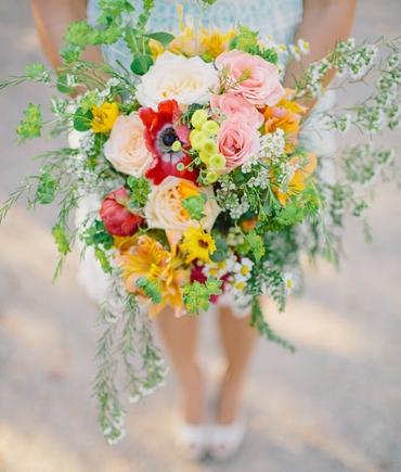 Rustic summer alstroemeria wedding bouquet