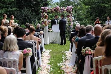 Outdoor summer white long wedding dresses