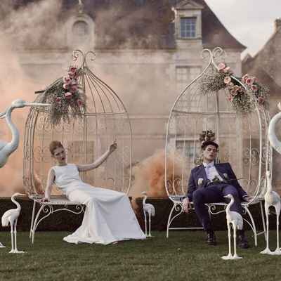 Themed white long wedding dresses
