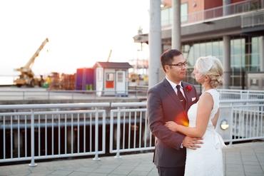 Grey long wedding dresses