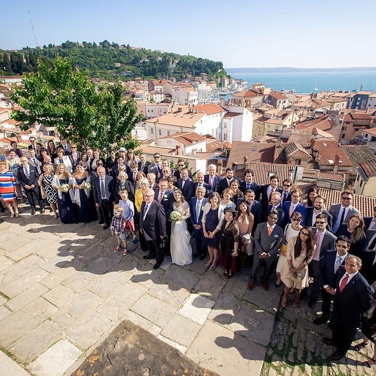 Nina and Lars' wedding in Piran and Portoroz on the Slovenian coast; Photos: Žiga Intihar