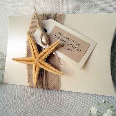 Marine ivory wedding favours