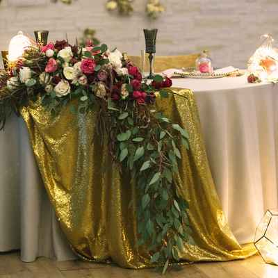 Ivory overseas wedding reception decor