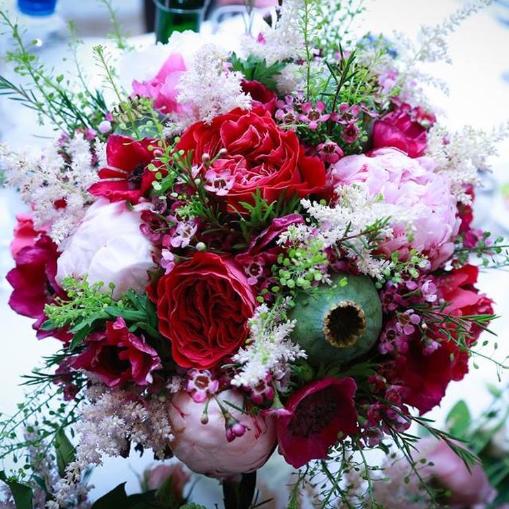 Cerise pink wedding