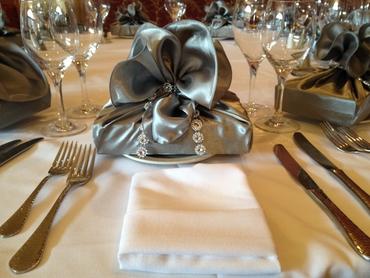 Grey wedding favours