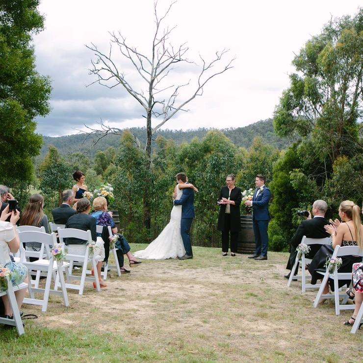 Melanie and Daniel at Yarra Valley Estate