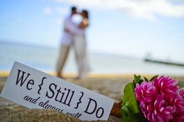 Beach white wedding signs