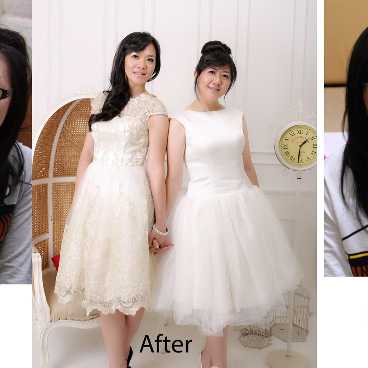 makeup&hair do for mei sisters photoshoot