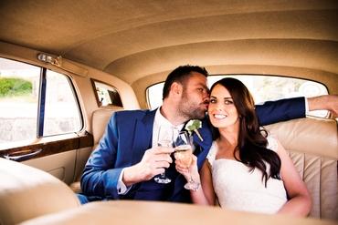 Blue bridal hair and make-up