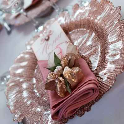 Pink overseas wedding reception decor