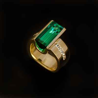 Green wedding rings