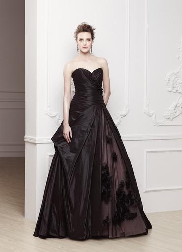 Black corset wedding dresses