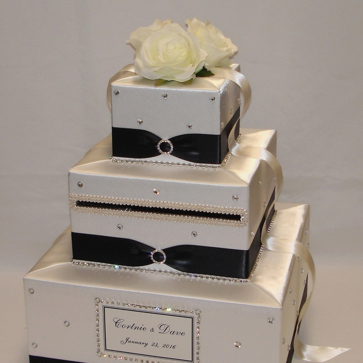 3 Tier Custom made Wedding Card Boxes
