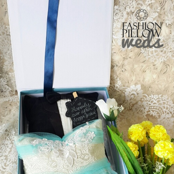 Custom Wedding Couple Pillow
