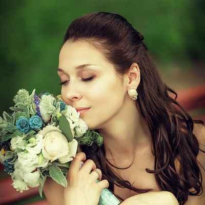 Blue bridal style
