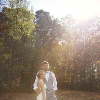 Autumn long wedding dresses