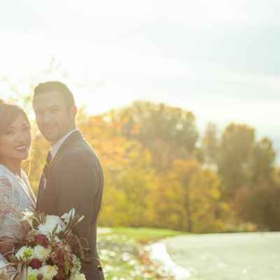 Autumn outdoor wedding photo session ideas