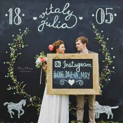 Rustic black wedding signs