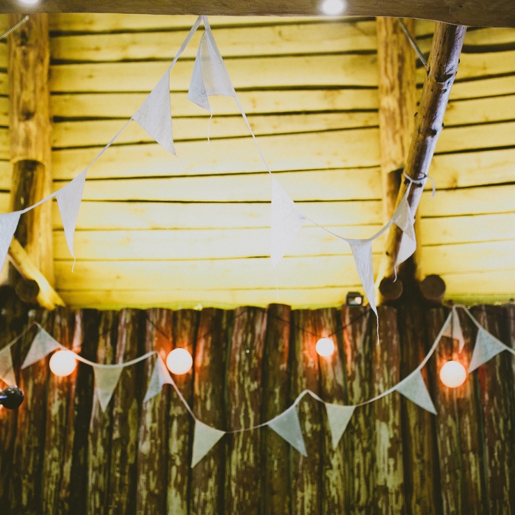 Rustic party flags