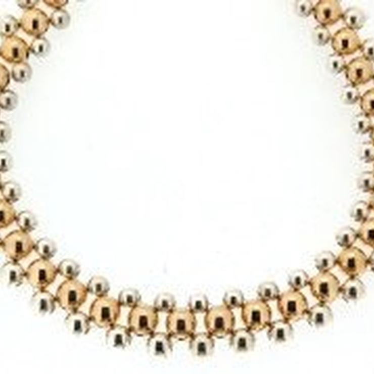 9ct Gold and Silver Collarette