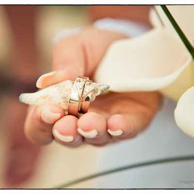 Marine wedding rings