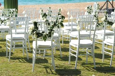 Outdoor wedding ceremony decor