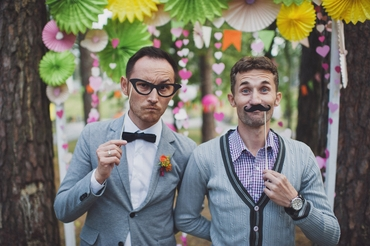 Grey wedding guests
