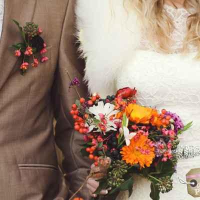 Aster wedding bouquet