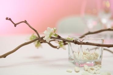 Spring wedding floral decor