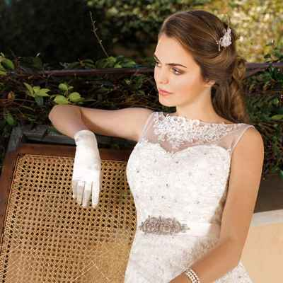French short sleeve wedding dresses