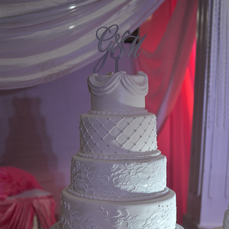 7 layer white wedding cake