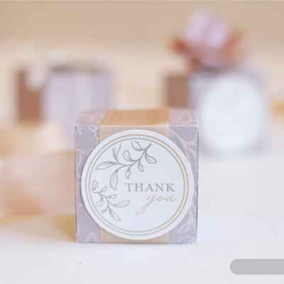 Grey wedding favours