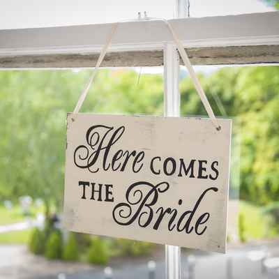 Ivory wedding signs