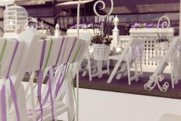 French green wedding ceremony decor