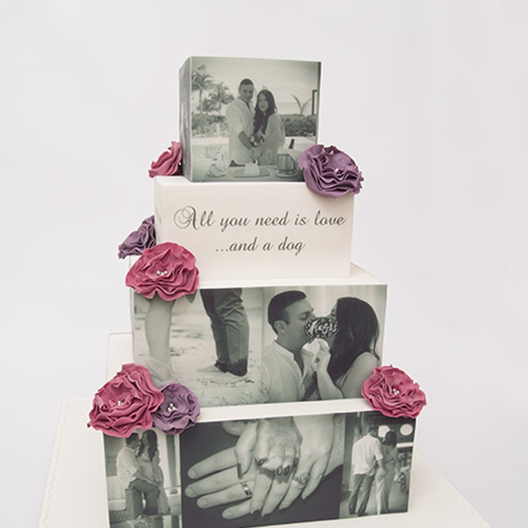 Personalised Wedding PhotoCake