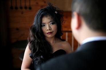 Black bridal hair and make-up