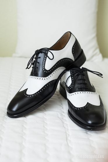 Black wedding shoes