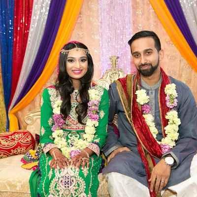 Ethnical green long wedding dresses