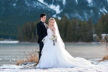 Winter white outdoor long wedding dresses