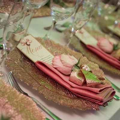 Ivory overseas wedding reception decor