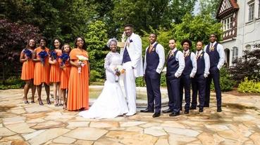 Orange wedding photo session ideas
