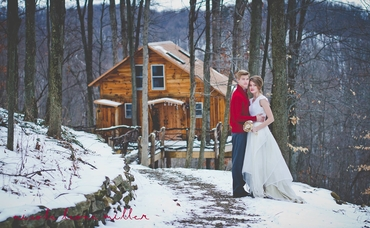 Winter long wedding dresses