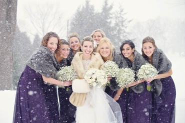 Winter wedding headpieces, veils, cover-ups & brooches