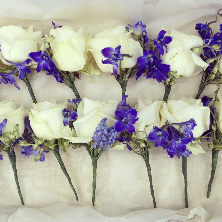 Blue and white spring wedding